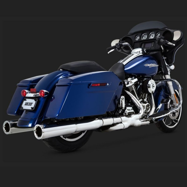 VANCE HINES POWER DUAL CHROMED HEADPIPE HARLEY TOURING 17-18