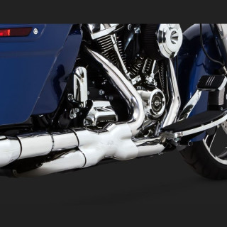 VANCE HINES POWER DUAL CHROMED HEADPIPE HARLEY TOURING 17-21- DETAIL