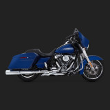 VANCE HINES POWER DUAL CHROMED HEADPIPE HARLEY TOURING 17-18 - SIDE