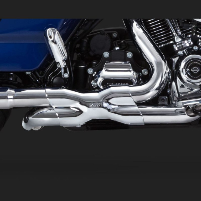 COLLETTORI VANCE HINES CROMATI POWER DUAL HARLEY TOURING 17-18 - DETAIL 2