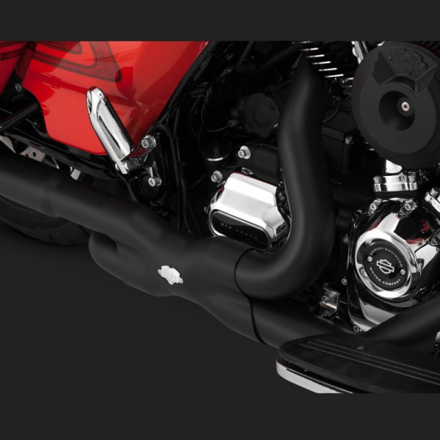 VANCE HINES POWER DUAL BLACK HEADPIPE HARLEY TOURING 17-18 - DETAIL