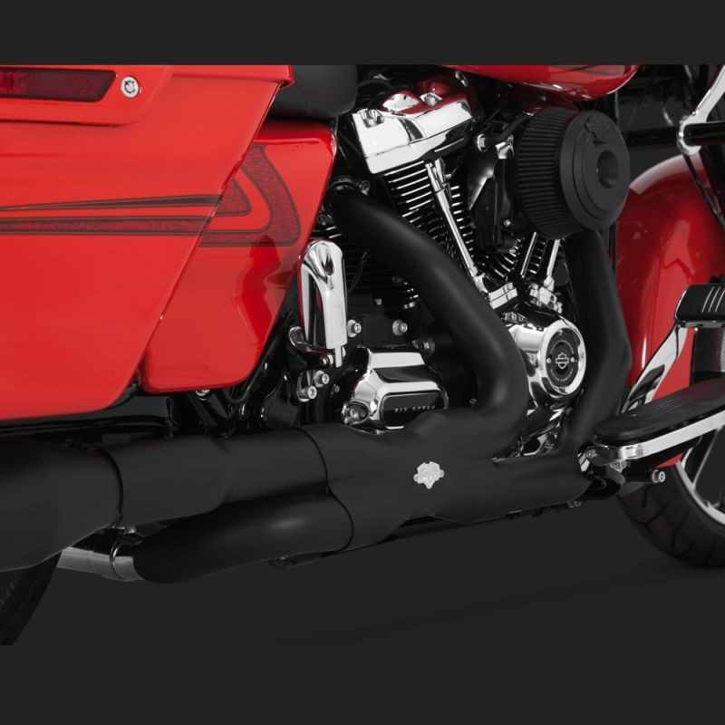 VANCE HINES POWER DUAL BLACK HEADPIPE HARLEY TOURING 17-18 - DETAIL 2
