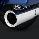 VANCE HINES PRO PIPE CHROME HARLEY TOURING EXHAUST - DETAIL