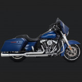 VANCE HINES PRO PIPE CHROME HARLEY TOURING EXHAUST - SIDE
