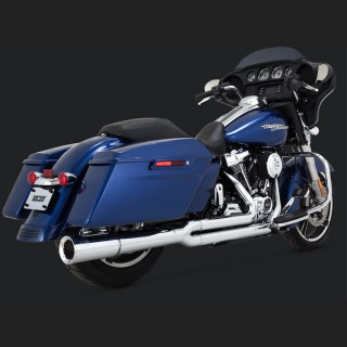 VANCE HINES PRO PIPE CHROME HARLEY TOURING EXHAUST - BACK