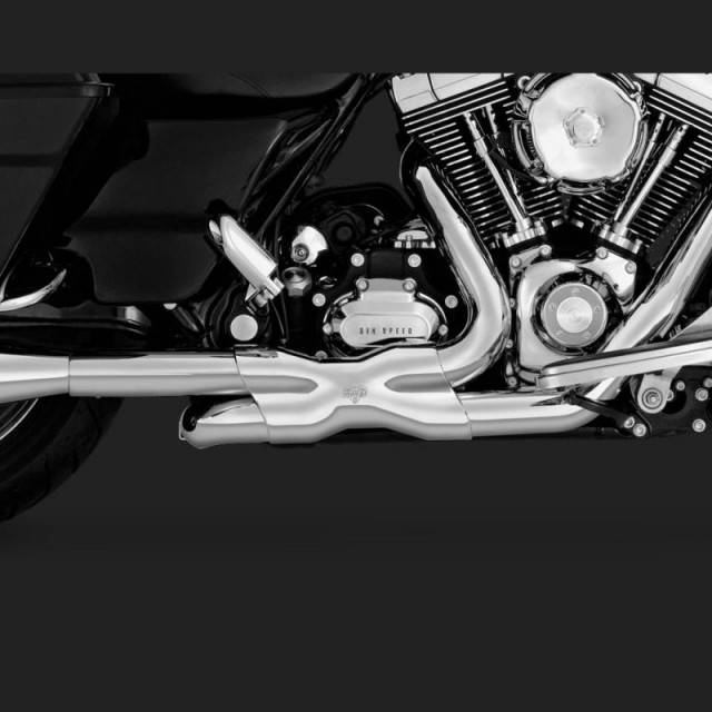 COLLETTORI VANCE HINES CROMATI POWER DUAL HARLEY TOURING 09-16 - DETAIL