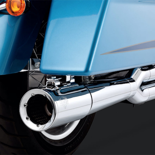 VANCE HINES PRO PIPE CHROME HARLEY TOURING EXHAUST 16-10 - DETAIL