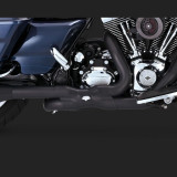 VANCE HINES POWER DUAL BLACK HEADPIPE HARLEY TOURING 09-16 - DETAIL 2