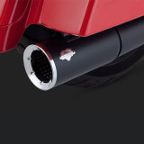 VANCE HINES PRO PIPE BLACK HARLEY TOURING EXHAUST 10-16 - DETAIL 2