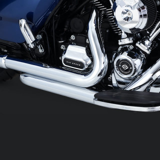 VANCE HINES DRESSER DUAL CHROME HARLEY TOURING HEADPIPES 17-21
