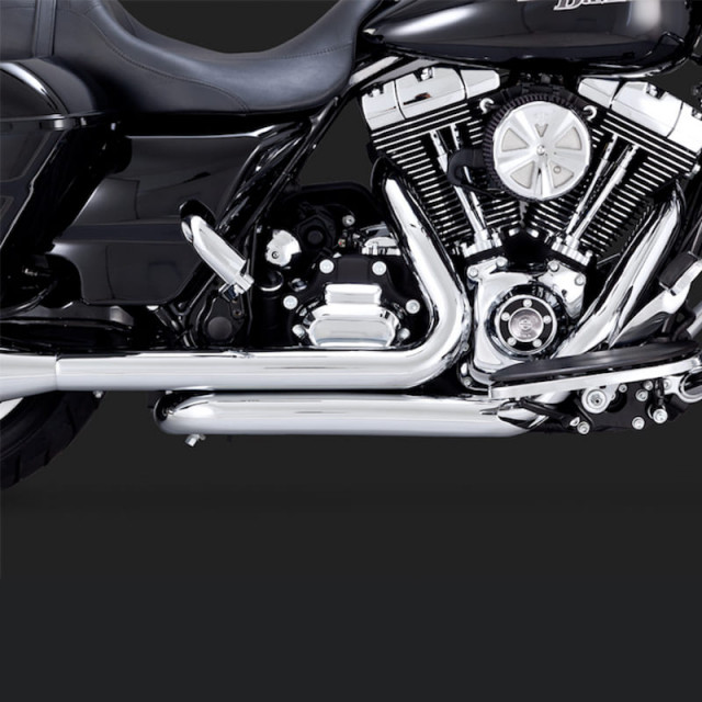 COLLETTORI VANCE HINES HEADPIPES DRESSER DUAL CHROME HARLEY TOURING 09-16 - DETTAGLIO