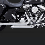 VANCE HINES DRESSER DUAL CHROME HARLEY TOURING HEADPIPES 09-16 - DETAIL
