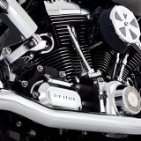 VANCE HINES DRESSER DUAL CHROME HARLEY TOURING HEADPIPES 95-08 - DETAIL 2
