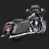 COLLETTORI VANCE HINES DRESSER DUAL CHROME HARLEY TOURING 95-08