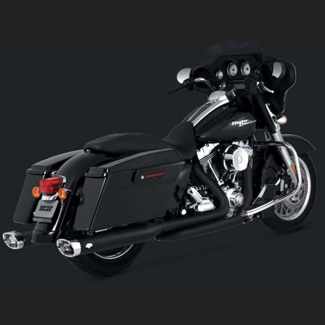 COLLETTORI VANCE HINES DRESSER DUAL BLACK HARLEY TOURING 09-16