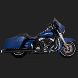 VANCE HINES MONSTER ROUND BLACK SLIP-ONS HARLEY TOURING - SIDE