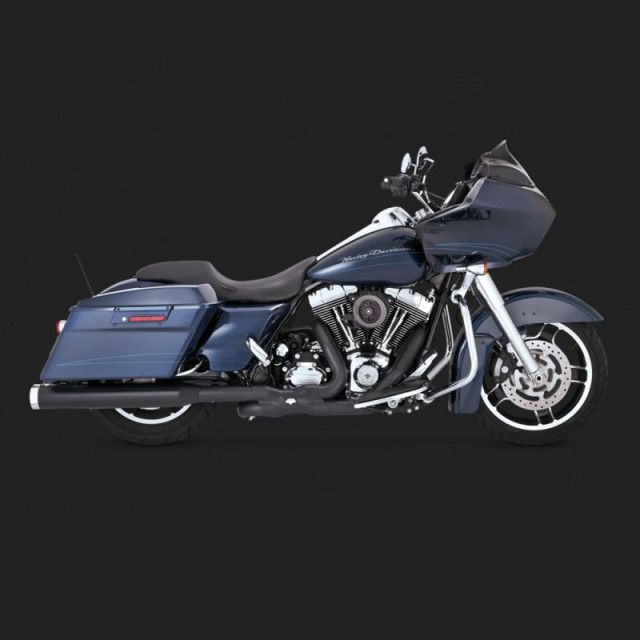 TERMINALI VANCE HINES MONSTER ROUND BLACK HARLEY TOURING 99-16 - SIDE