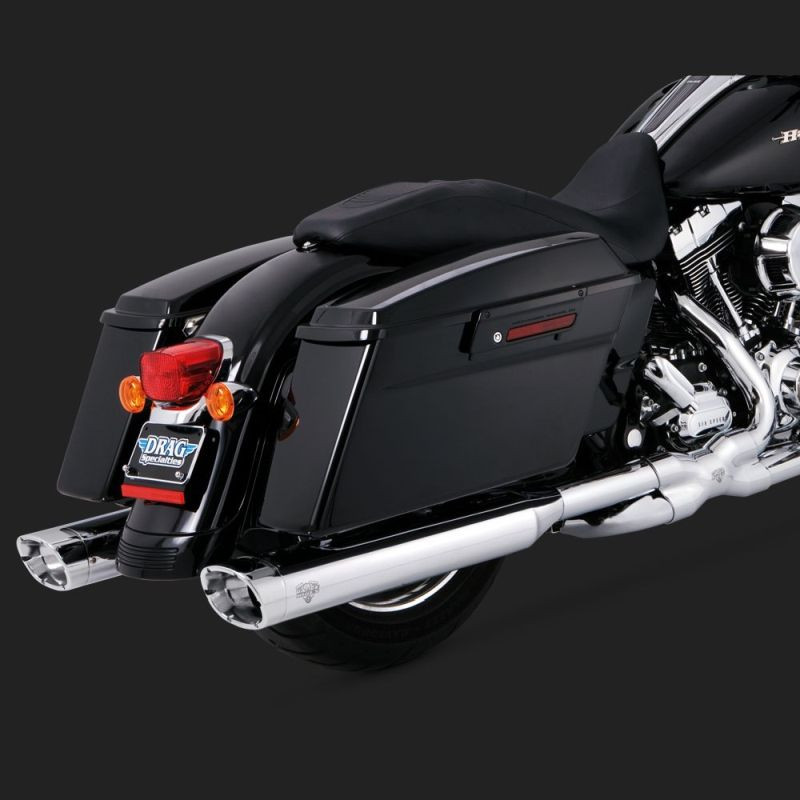 TERMINALI VANCE HINES MONSTER OVALS CHROME HARLEY TOURING 99-16 - DETAIL