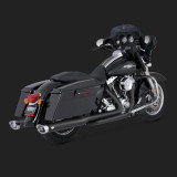 TERMINALI VANCE HINES MONSTER OVALS BLACK HARLEY TOURING 99-16