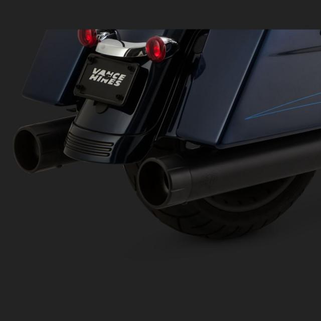 VANCE HINES OVERSIZED 450 BLACK RAIDER SLIP-ONS HARLEY TOURING 17-18
