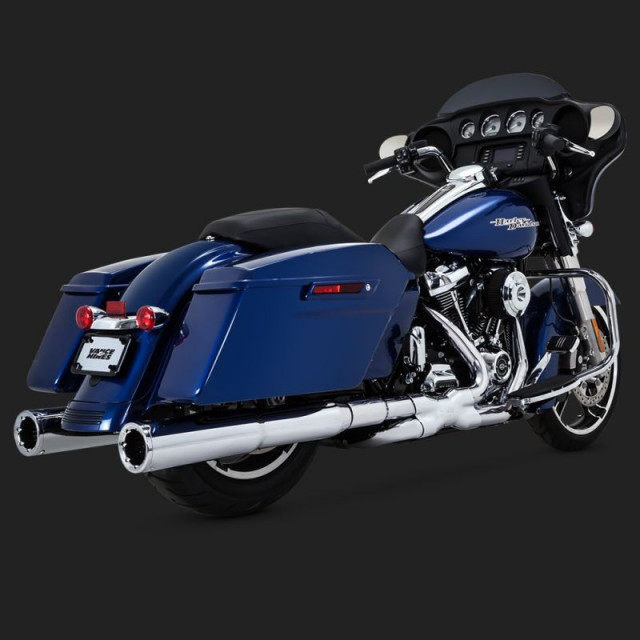 VANCE HINES HI-OUTPUT SLIP-ON MUFFLERS FOR HARLEY TOURING 17-18