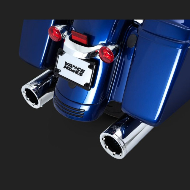 VANCE HINES HI-OUTPUT SLIP-ON MUFFLERS FOR HARLEY TOURING 17-18 - DETAIL