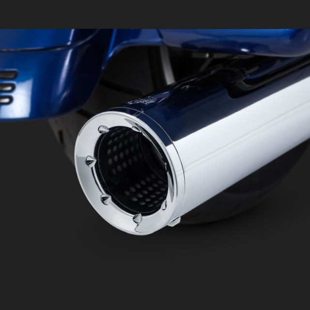VANCE HINES HI-OUTPUT SLIP-ON MUFFLERS FOR HARLEY TOURING 17-18 - DETAIL 2