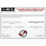 VANCE HINES ELIMINATOR 400 CHROME-BLACK SLIP-ON MUFFLER HARLEY TOURING 17-19 - DECLARED EMISSIONS REPLACEMENT PART