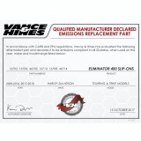 VANCE HINES ELIMINATOR 400 CHROME SLIP-ON MUFFLER HARLEY TOURING 95-16 - DECLARED EMISSIONS REPLACEMENT PART