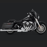 VANCE HINES ELIMINATOR 400 CHROME SLIP-ON MUFFLER HARLEY TOURING 95-16 - SIDE