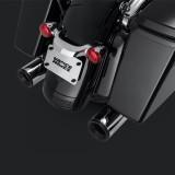 VANCE HINES ELIMINATOR 400 CHROME-BLACK SLIP-ON MUFFLER HARLEY TOURING 95-16 - DETAIL
