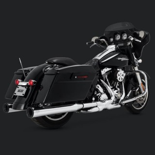 VANCE HINES ELIMINATOR 400 CHROME-BLACK SLIP-ON MUFFLER HARLEY TOURING 95-16
