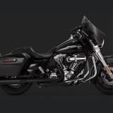 VANCE HINES ELIMINATOR 400 MATTE BLACK SLIP-ON MUFFLER HARLEY TOURING 95-16 - SIDE