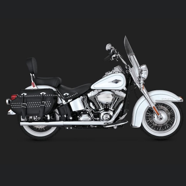 VANCE HINES SOFTAIL DUALS CHROME EXHAUST SYSTEM HARLEY SOFTAIL 12-17