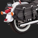 VANCE HINES SOFTAIL DUALS CHROME EXHAUST SYSTEM HARLEY SOFTAIL 12-17- DETAIL