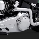 VANCE HINES SOFTAIL DUALS CHROME EXHAUST SYSTEM HARLEY SOFTAIL 97-11 - DETAIL 2