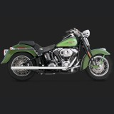 VANCE HINES SOFTAIL DUALS CHROME EXHAUST SYSTEM HARLEY SOFTAIL 97-11 - SIDE