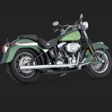 VANCE HINES SOFTAIL DUALS CHROME EXHAUST SYSTEM HARLEY SOFTAIL 97-11