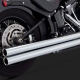 VANCE HINES BIG SHOTS LONG CHROME EXHAUST HARLEY SOFTAIL 12-17 - DETAIL