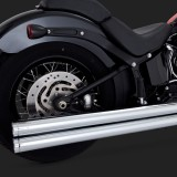 VANCE HINES BIG SHOTS LONG CHROME EXHAUST HARLEY SOFTAIL 12-17 - DETAIL 2