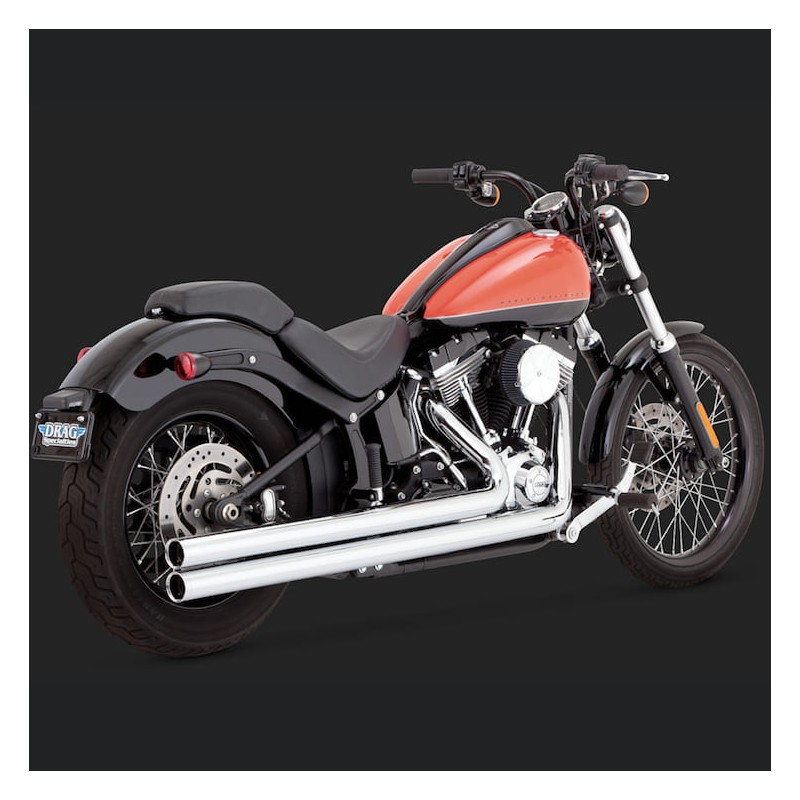 SCARICHI VANCE HINES BIG SHOTS LONG CHROME HARLEY SOFTAIL 12-17