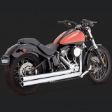 VANCE HINES BIG SHOTS LONG CHROME EXHAUST HARLEY SOFTAIL 12-17