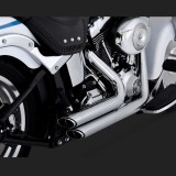 VANCE HINES SHORTSHOTS STAGGERED CHROME EXHAUST FOR HARLEY SOFTAIL 86-11 - DETAIL