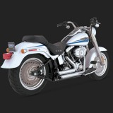 VANCE HINES SHORTSHOTS STAGGERED CHROME EXHAUST FOR HARLEY SOFTAIL 86-11 - DETAIL 3