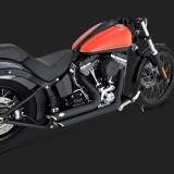 SCARICHI VANCE HINES SHORTSHOTS STAGGERED BLACK PER HARLEY SOFTAIL 12-17 - DETAIL 3