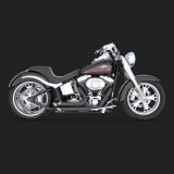 VANCE HINES SHORTSHOTS STAGGERED BLACK EXHAUST FOR HARLEY SOFTAIL 86-11 - SIDE