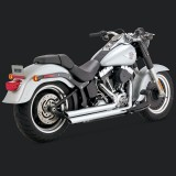 VANCE HINES BIG SHOTS STAGGERED CHROME EXHAUST HARLEY SOFTAIL 00-07