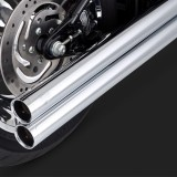 VANCE HINES BIG SHOTS LONG CHROME EXHAUST HARLEY SOFTAIL 86-11 - DETAIL