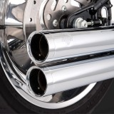 VANCE HINES BIG SHOTS LONG CHROME EXHAUST HARLEY SOFTAIL 86-11 - DETAIL 2