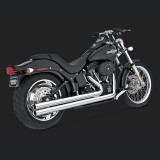 VANCE HINES BIG SHOTS LONG CHROME EXHAUST HARLEY SOFTAIL 86-11